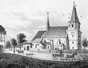 """Großdölzig bei Leipzig. - Pfarrkirche. - Sachsens Kirchen-Galerie. - """"Großd&..."""