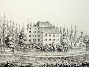 """Großharthau bei Bischofswerda. - Rittergut. - Poenicke. - """"Harthau"""".: Gustav Adolph..."""