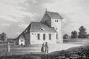 """Glasten bei Grimma. - Kirche. - Sachsens Kirchen-Galerie. - """"Glasten""""."""
