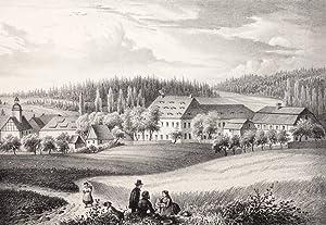 "Pöhl bei Schwarzenberg. - Rittergut. - Poenicke. - ""Pöhl"".: Gustav Adolph ..."