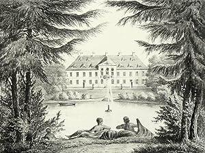"""Oberlichtenau in Pulsnitz. - Schloss. - Poenicke. - """"Ober-Lichtenau"""".: Gustav Adolph ..."""