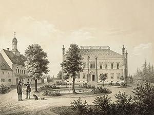"""Schwepnitz bei Kamenz. - Schloss. - Poenicke. - """"Schwepnitz"""".: Gustav Adolph Poenicke"""