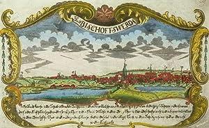 """Bischofswerda. - Gesamtansicht. - Sächsischer Postillon. - """"Stadt Bischoffswerda""""."""
