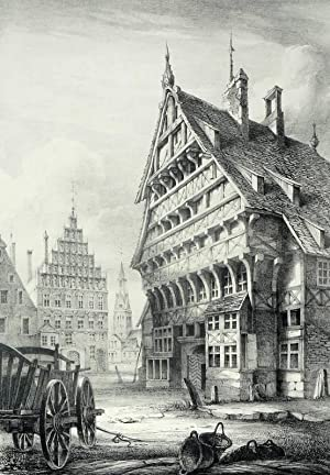 """Hannover. - """"Old Buildings, Hanover""""."""