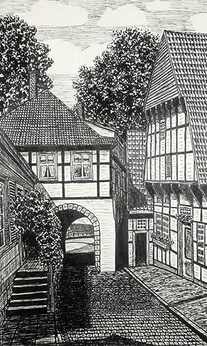 "Eduard Wettengel. - Teutoburger Wald. - ""Tecklenburg - Teutoburger Wald, Legge""."