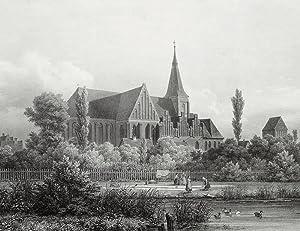 "Salzwedel. - Katharinenkirche. - Backsteingotik. - ""Katharinen Kirche zu Salzwedel""."