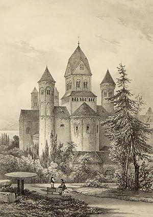 "Abtei Maria Laach. - ""Abbaye de Laaken, près Andernach"".: Nicolas-Marie-Joseph ..."