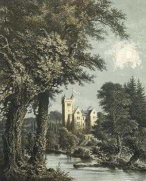 """Neuscharfenberg. - Wenigenlupnitz. - Fluss Nesse. - """"Schloss Neuscharffenberg bei Eisenach&..."""