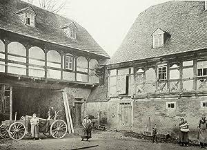 """Kühnhaide (Marienberg). - """"Bauerngut - Hofansicht - in Kühnhaide (Erzgebirge)""""."""