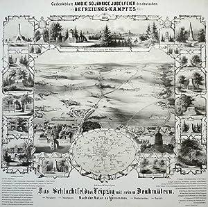 """Leipzig. - Völkerschlacht. - Gedenkblatt an die 50 jährige Jubelfeier. - """"Das ..."""