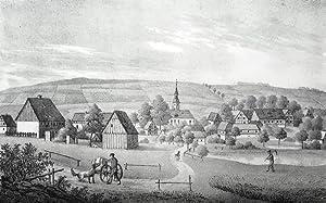 """Helbigsdorf (Wilsdruff). - Gesamtansicht. - Sachsens Kirchen-Galerie. - """"Helbigsdorf""""."""