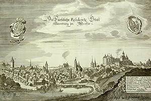 """Altenburg. - Gesamtansicht. - Merian. - """"Die Fürstliche Residentz Stat Altenburg in ..."""