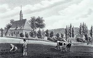 """Cunnersdorf (Pirna). - Gesamtansicht. - Sachsens Kirchen-Galerie. - """"Cunnersdorf""""."""
