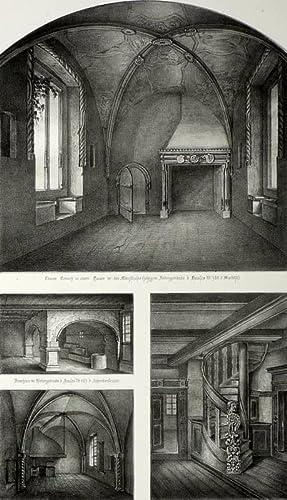 """Goslar. - Detailansichten. - """"Ansichten des Inneren mittelalterlicher Gebäude in Goslar&..."""