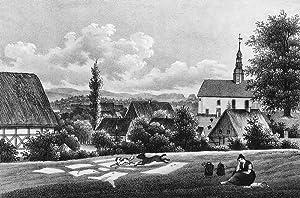 """Ulbersdorf (Hohnstein). - Teilansicht. - Sachsens Kirchen-Galerie. - """"Ulbersdorf""""."""