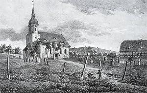 "Falkenhain (Mittweida). - Teilansicht. - Sachsens Kirchen-Galerie. - ""Falkenhain""."