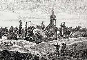 """Audigast (Groitzsch). - Gesamtansicht. - Sachsens Kirchen-Galerie. - """"Audigast""""."""