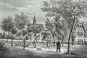 """Niederstriegis (Roßwein). - Teilansicht. - Sachsens Kirchen-Galerie. - """"Niederstriegis&..."""