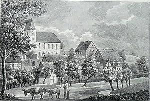 """Marbach. - Teilansicht. - Sachsens Kirchen-Galerie. - """"Marbach""""."""