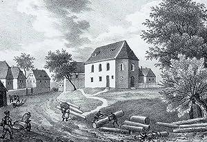 """Trachenau (Rötha). - Pfarrkirche. - Sachsens Kirchen-Galerie. - """"Trachenau""""."""