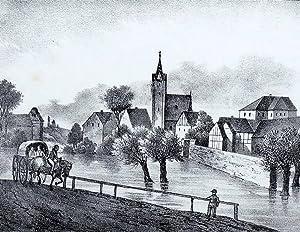 """Trautzschen (Pegau). - Gesamtansicht. - Sachsens Kirchen-Galerie. - """"Trautzschen""""."""