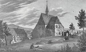 """Beiersdorf (Ebersbach). - Teilansicht mit Pfarrkirche. - Sachsens Kirchen-Galerie. - """"..."""