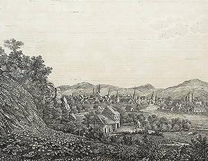 """Goslar. - Gesamtansicht. - Bildergallerie für die Jugend. - """"Goslar am Harz""""."""