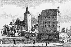 """Schönfeld. - Teilansicht mit Pfarrkirche. - Sachsens Kirchen-Galerie. - """"Schönfeld&..."""