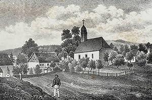 Rückersdorf (Neustadt in Sachsen). - Teilansicht mit Pfarrkirche. - Sachsens Kirchen-Galerie. ...