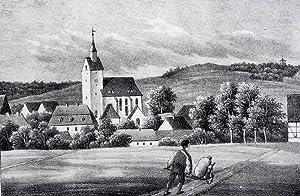 Schönfeld-Weißig (Dresden). - Teilansicht mit Pfarrkirche. - Sachsens Kirchen-Galerie. -...
