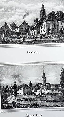 Crossen / Weißenborn (Zwickau). - 2 Ansichten mit Pfarrkirchen. - Sachsens ...