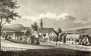 """Lauter. - Gesamtansicht mit Pfarrkirche. - Sachsens Kirchen-Galerie. - """"Lauter""""."""