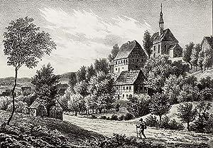 "Kirchberg. - Gesamtansicht mit Pfarrkirche. - Sachsens Kirchen-Galerie. - ""Kirchberg""."