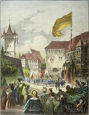 """Coburg. - """"Das erste allgemeine deutsche Turnfest in Koburg""""."""