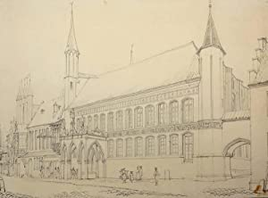 """Lübeck. - Teilansicht mit Rathaus. - """"The Rathhaus Lubeck""""."""
