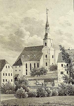 Niederzwönitz (Zwönitz). - Teilansicht mit Pfarrkirche. - Sachsens Kirchen-Galerie. - &...