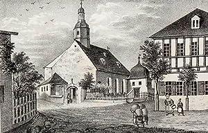 """Aue. - Teilansicht mit Pfarrkirche. - Sachsens Kirchen-Galerie. - """"Aue""""."""