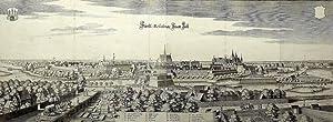 """Celle. - Panoramaansicht. - Merian. - """"Fürstliche Residentz Statt Zell"""".: Matth�us ..."""
