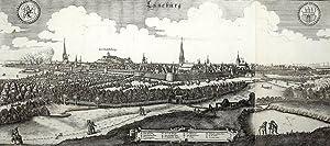 "Lüneburg. - Panoramaansicht. - Merian. - ""Lüneburg"".: Matth�us Merian d. �."