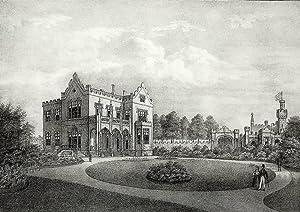 """Braunschweig. - Schloss Neu-Richmond. - """"Herzogliche Villa bei Braunschweig""""."""