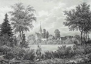 """Etzoldshain (Bad Lausick). - Gesamtansicht. - Sachsens Kirchen-Galerie. - """"Etzoldshain""""."""