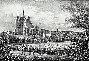 """Geithain. - Gesamtansicht. - Sachsens Kirchen-Galerie. - """"Geithain""""."""