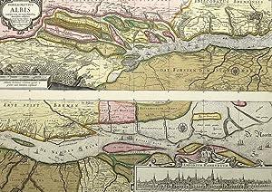 "Elbe-Karte / Hamburg. - Landkarte. - Peter Schenk. - ""Nobilis Fluvius Albis""."