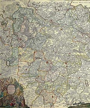 "Hannover. - Landkarte. - Matthäus Seutter. - ""Electoratus Hanoverani""."