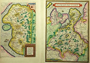 "Dithmarschen. - Oldenburg. - Doppellandkarte. - Ortelius. - ""Thietmarsiae-Oldenburg""."