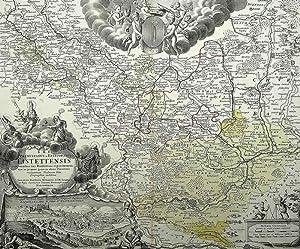 "Eichstätt. - Landkarte. - Panoramaansicht. - ""Eistettensis""."