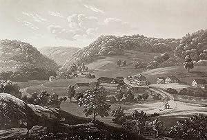 """Thiergarten (Beuron). - Gesamtansicht. - """"Thiergarten im Donauthal / Eisenwerk der Hrn. ..."""