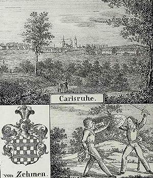"Karlsruhe. - Mehransichtenblatt. - ""Carlsruhe""."