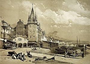 """Frankfurt am Main. - Altstadtansicht. - """"Mainkai""""."""