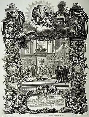 """Frankfurt am Main. - Krönungszeremonie. - """"Kaiserkrönung Karl VI."""".: Jeremias ..."""